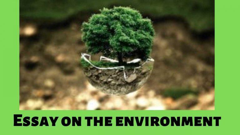 Essay on Environmentin English (पर्यावरण पर निबंध)