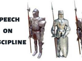 Speech on Discipline