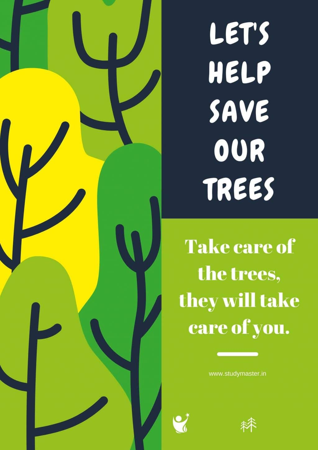poster on save tree