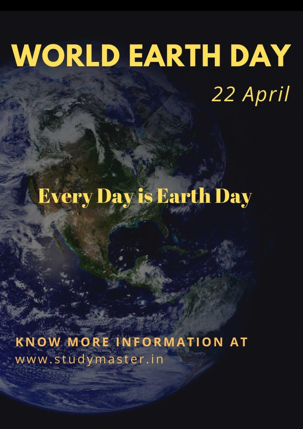 poster on save earth with slogan
