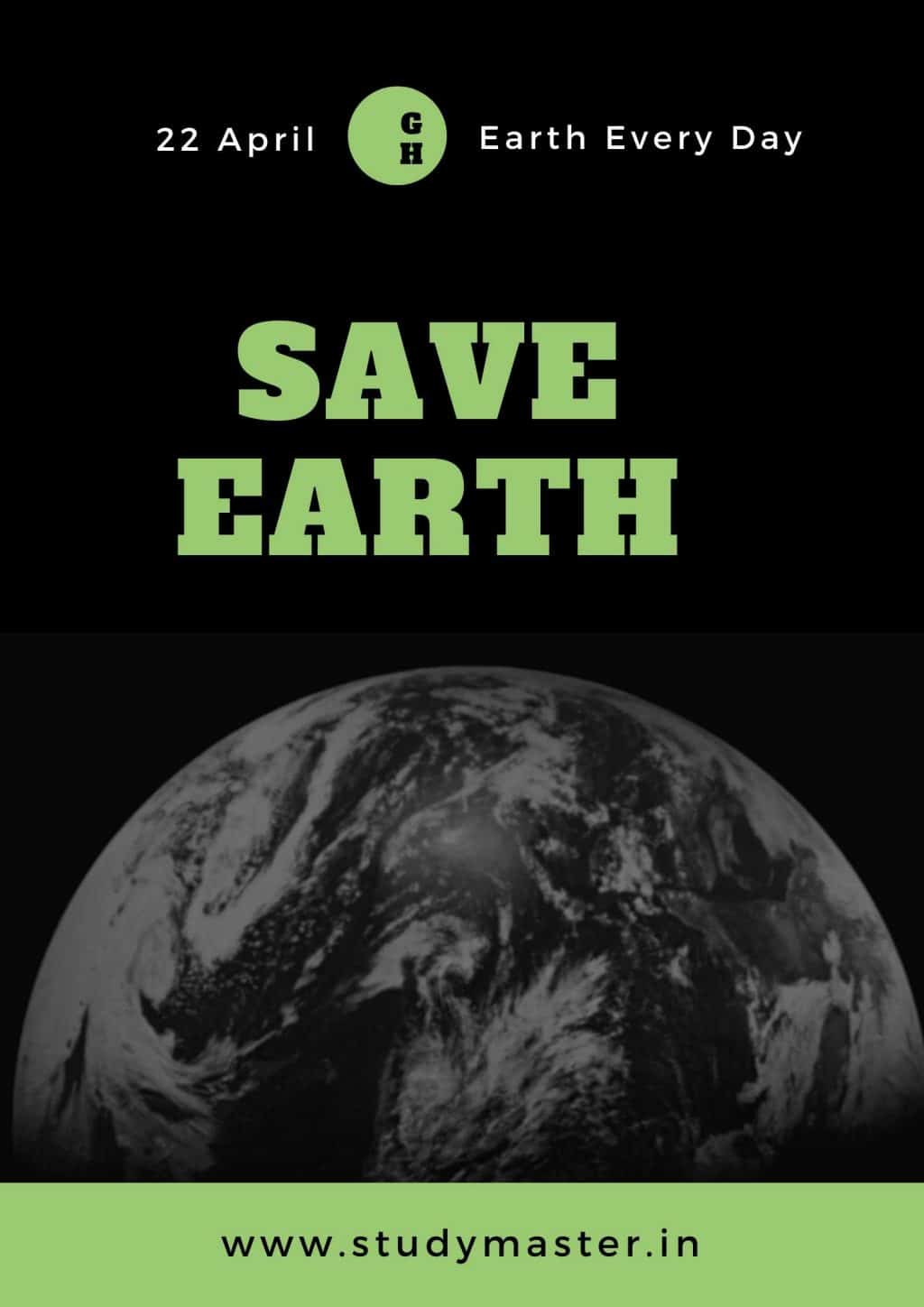 poster on save mother earth