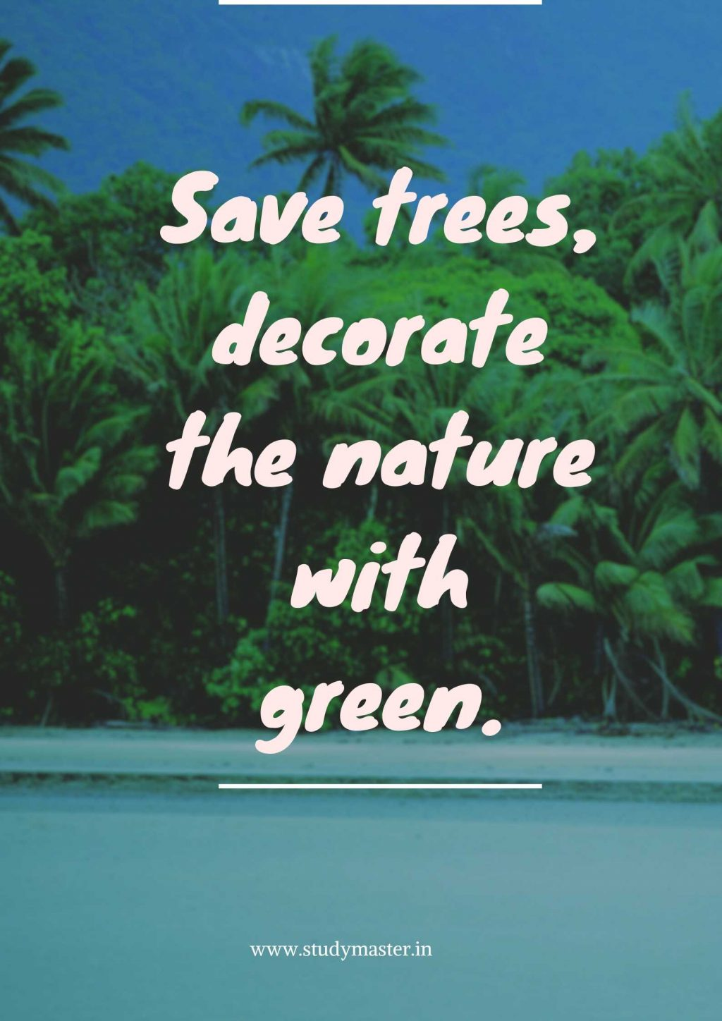 save trees poster