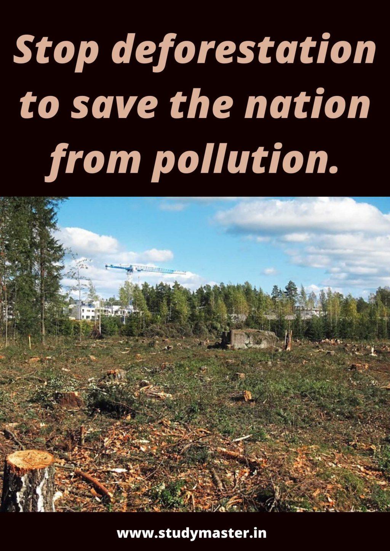 poster writing on deforestation