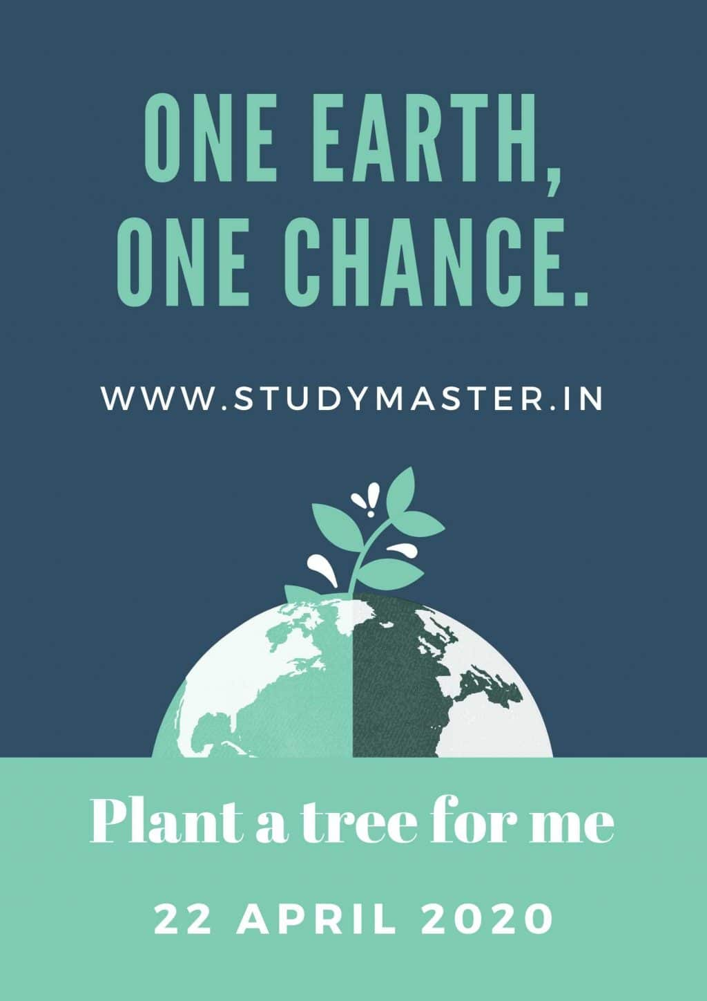 poster on save earth go green