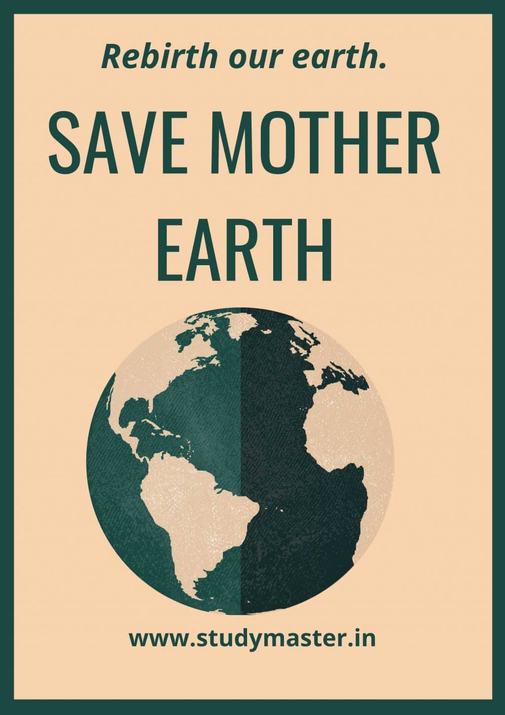 best poster on save earth