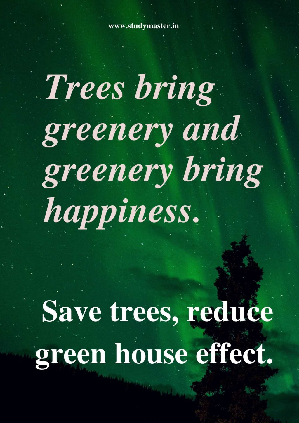 poster on save trees to draw