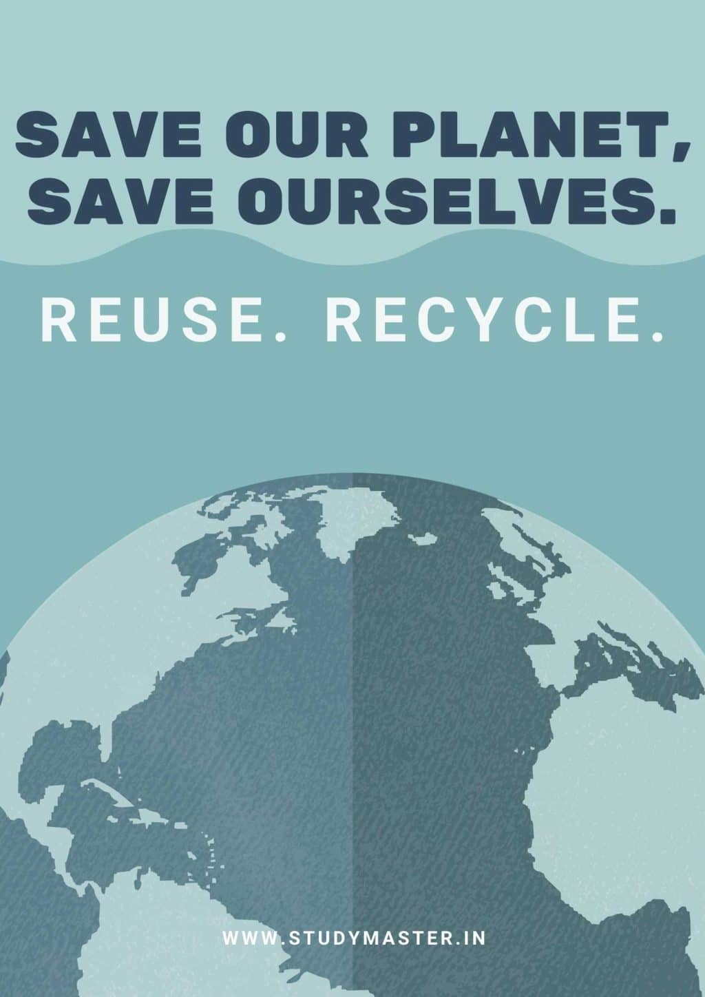 poster on save earth