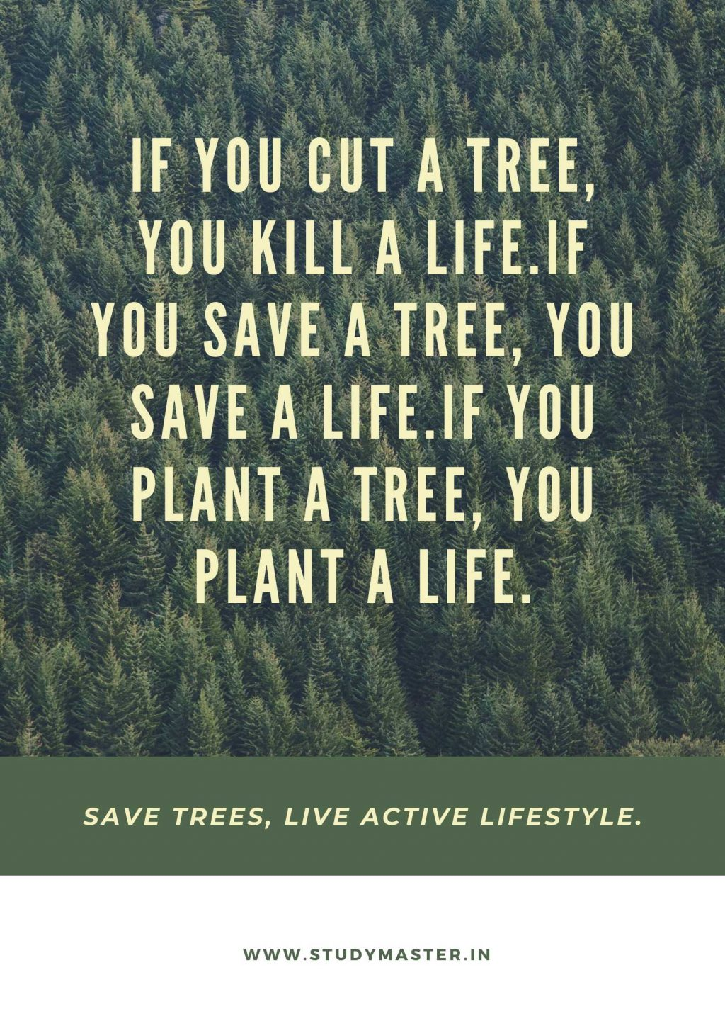poster on plant more trees save earth