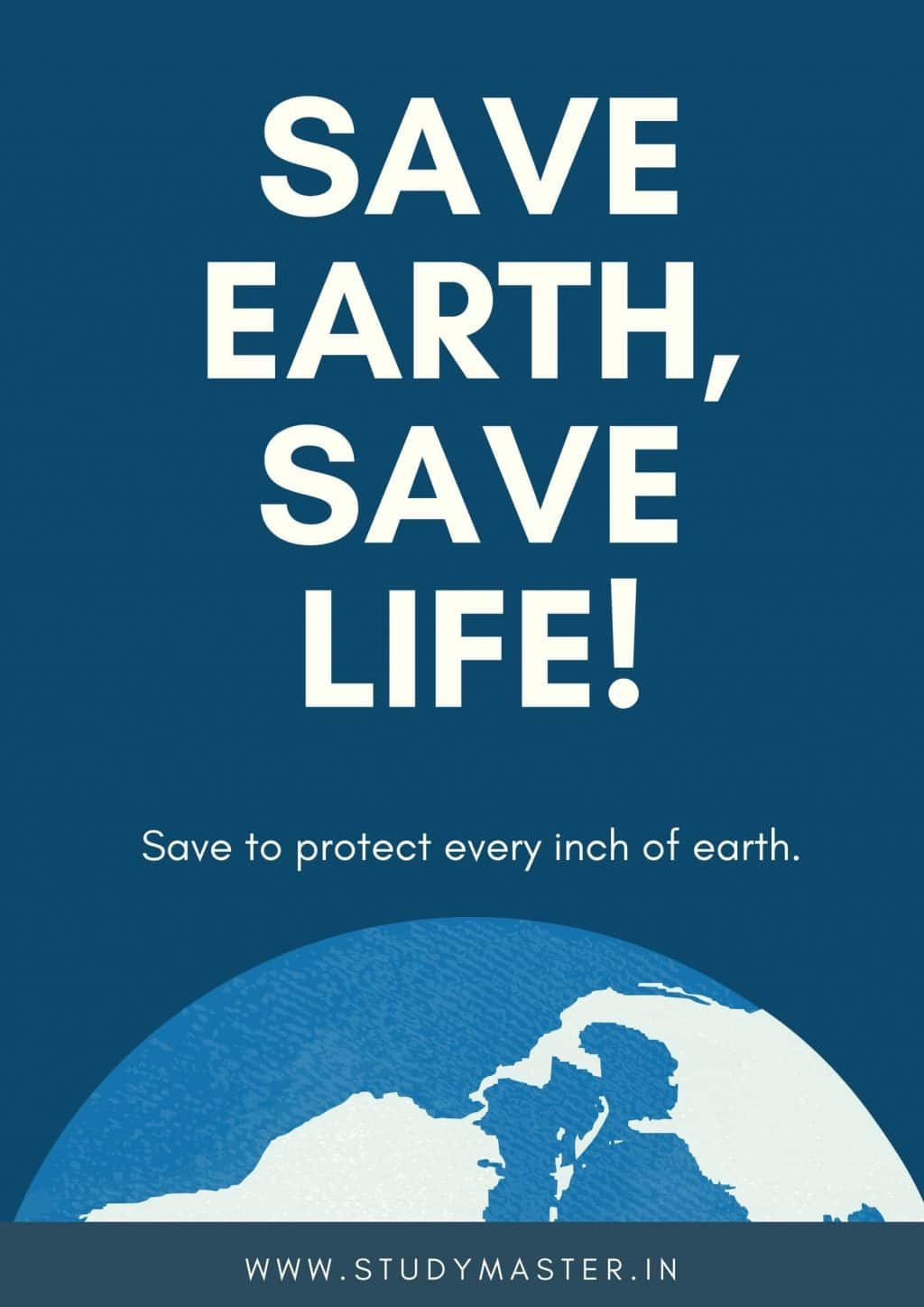 poster for save earth