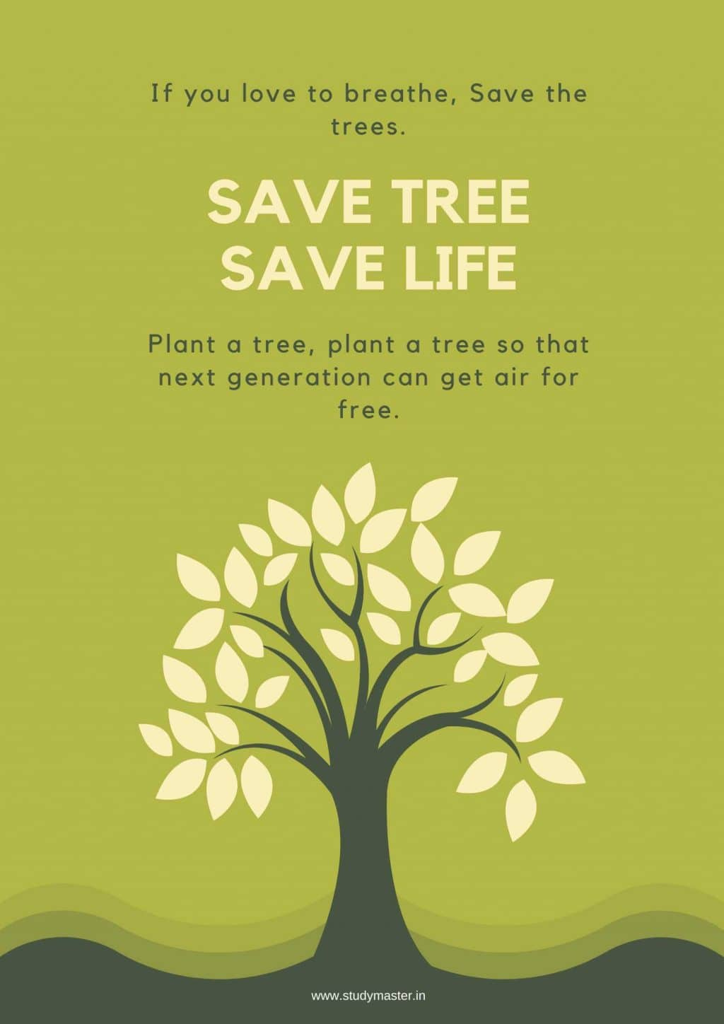 poster for save tree