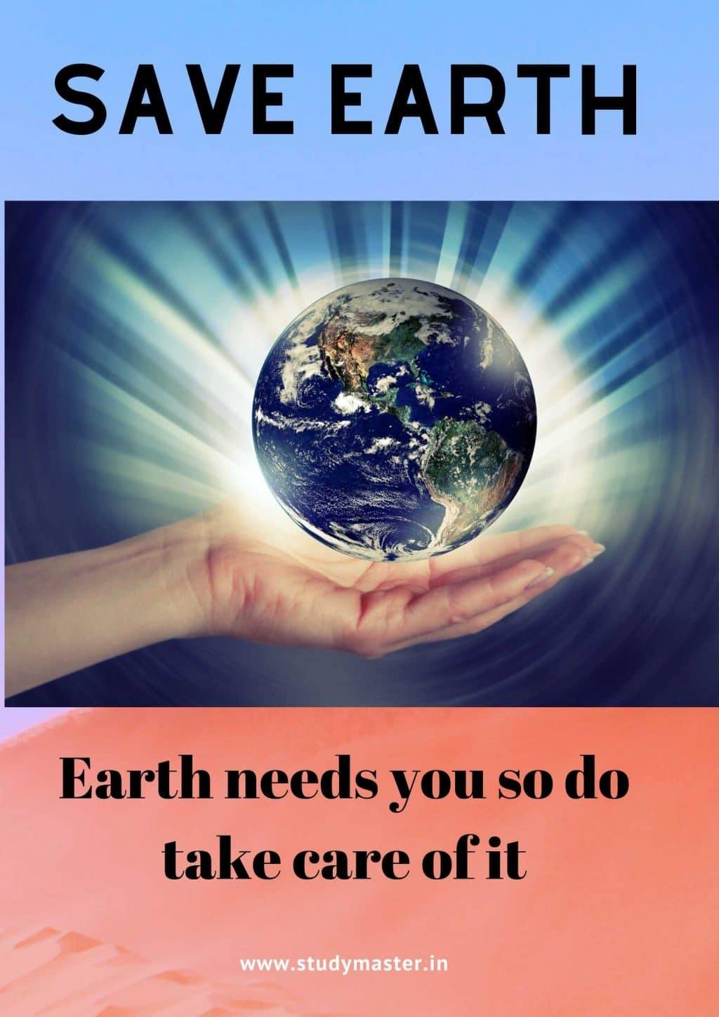 easy poster on save earth