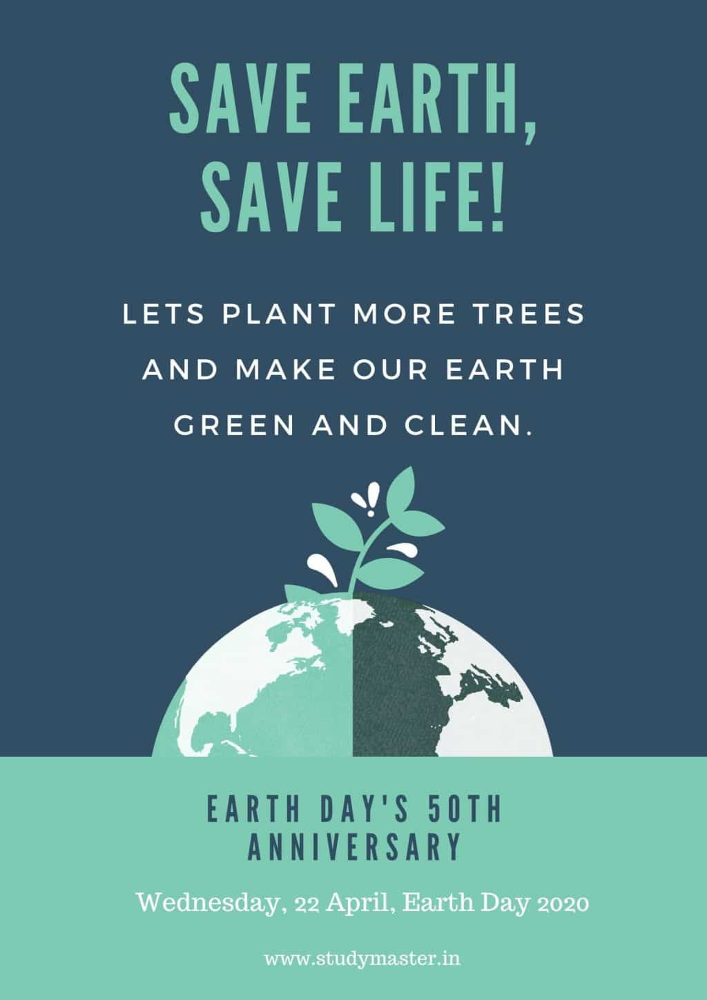 poster on how to save earth