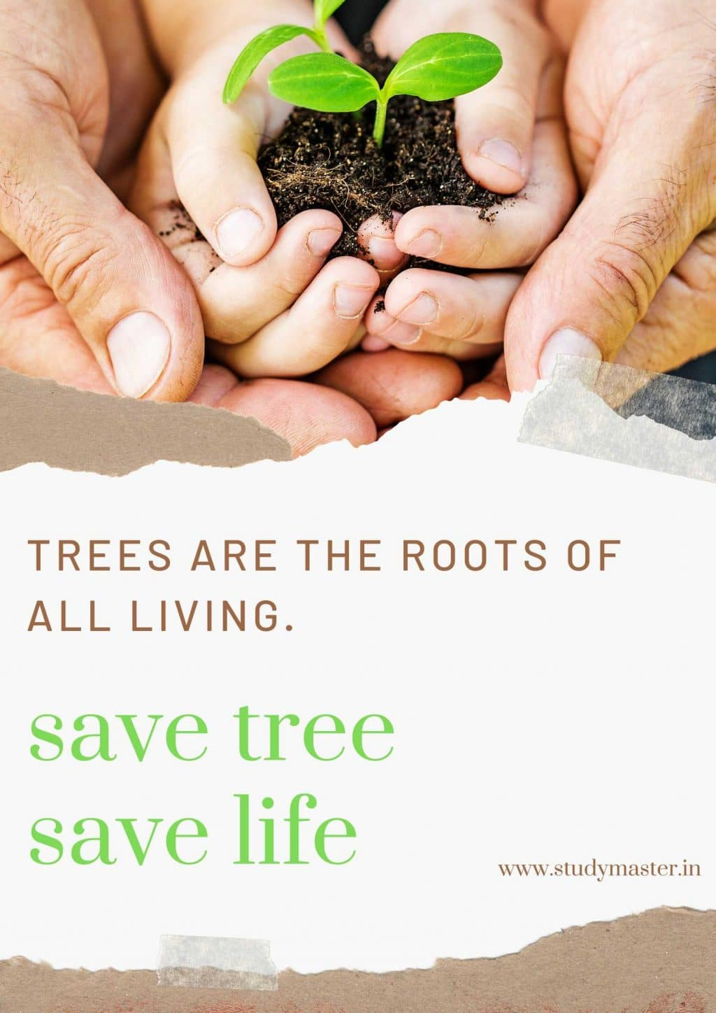 poster for save trees