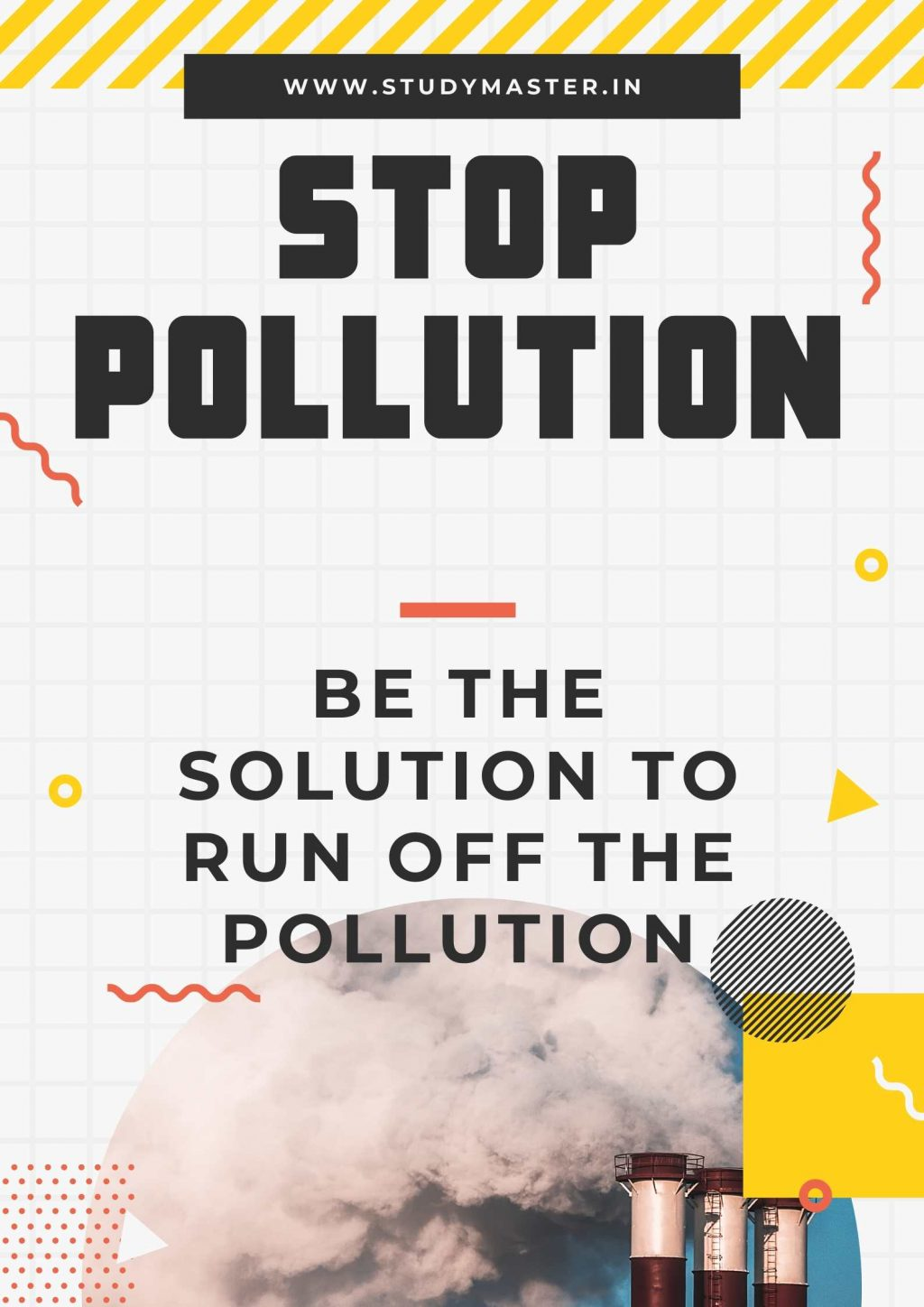 stop pollution poster