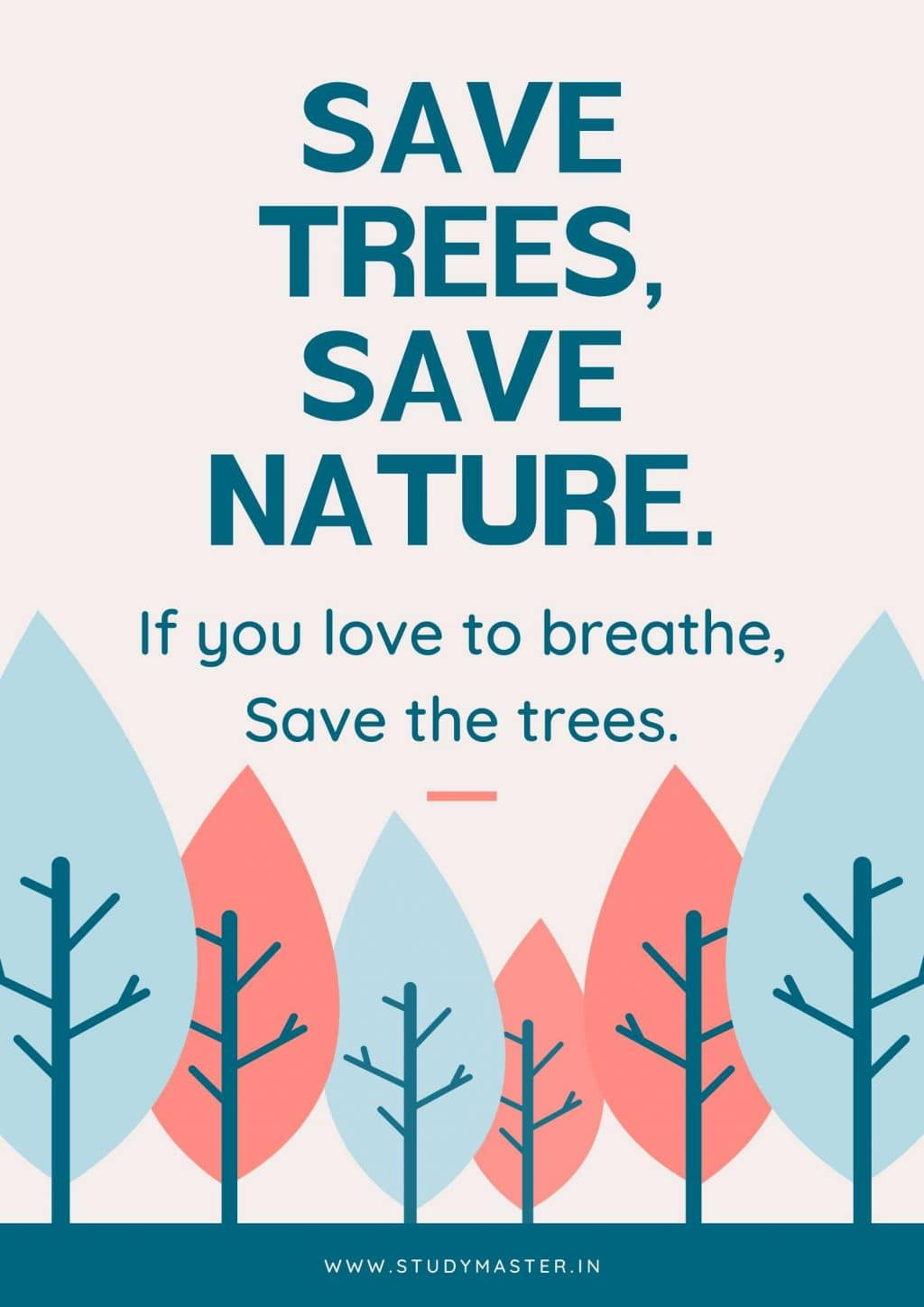 poster on save the trees