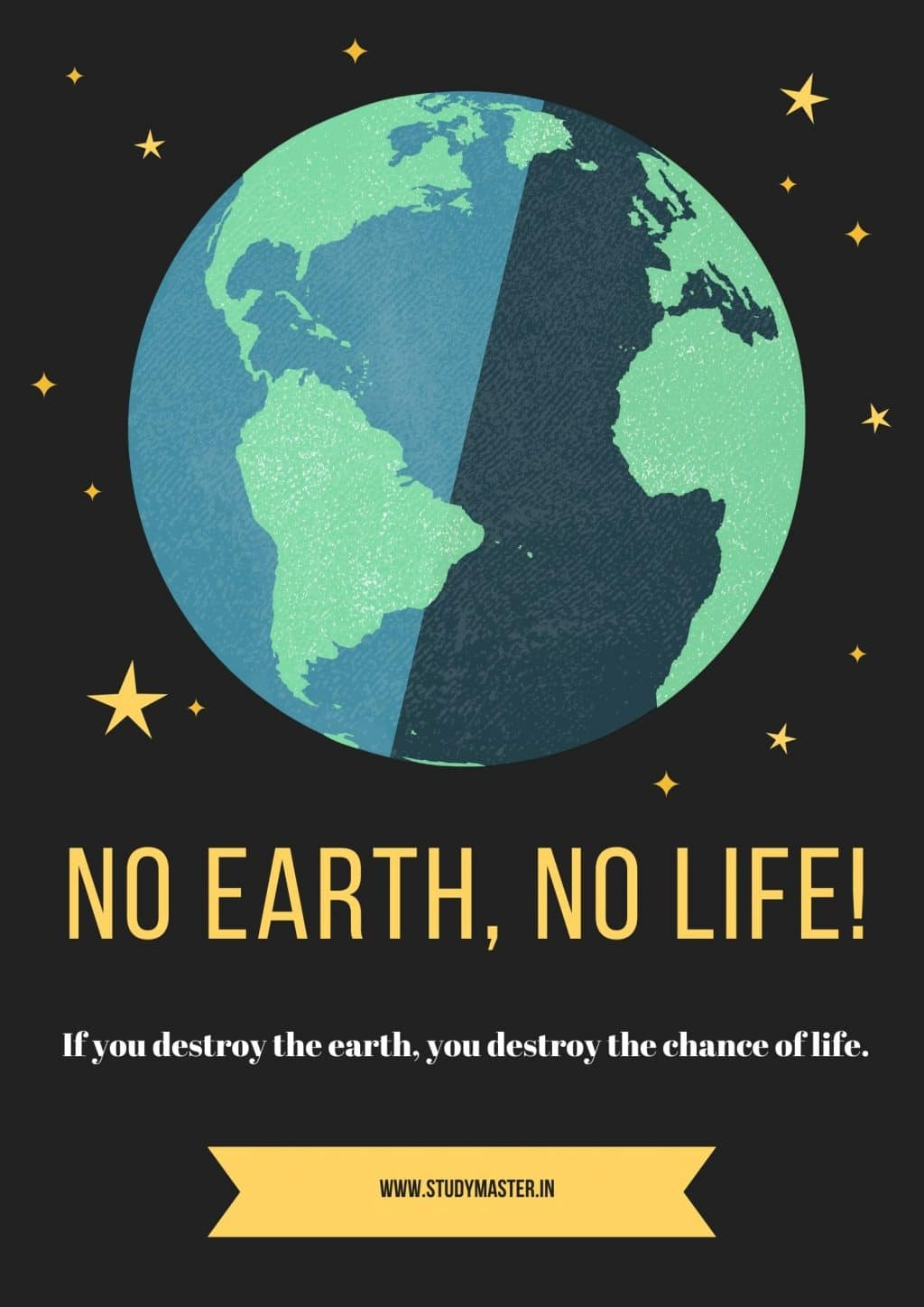 poster on save the earth