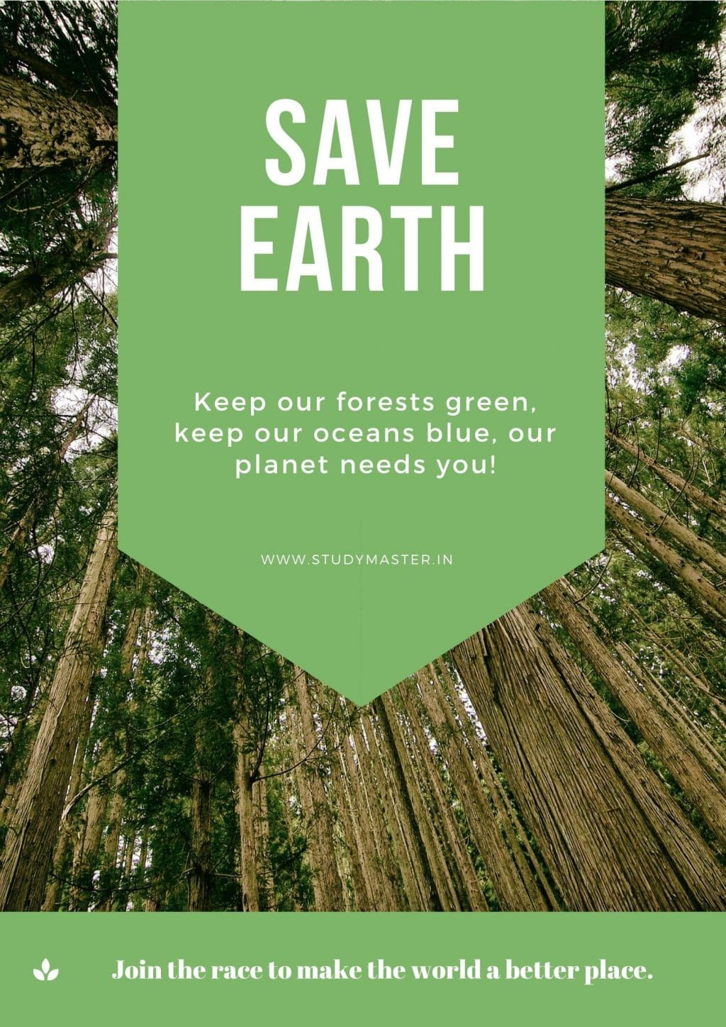 poster to save earth
