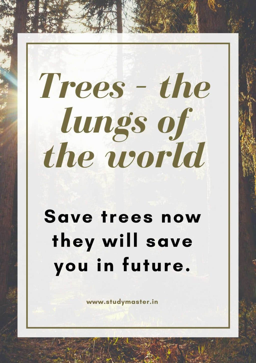 poster to save trees