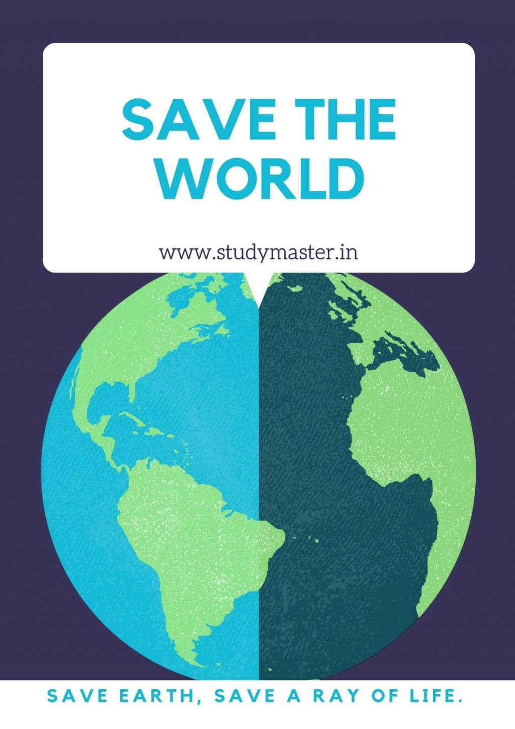 poster on save planet earth
