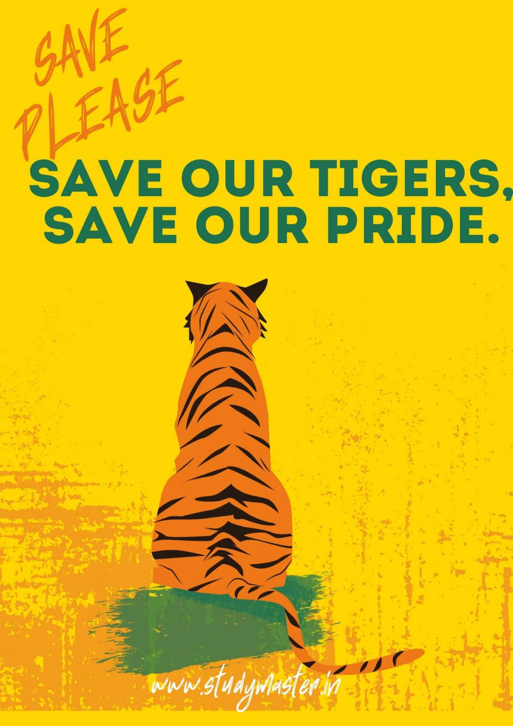 poster on save animals with slogan