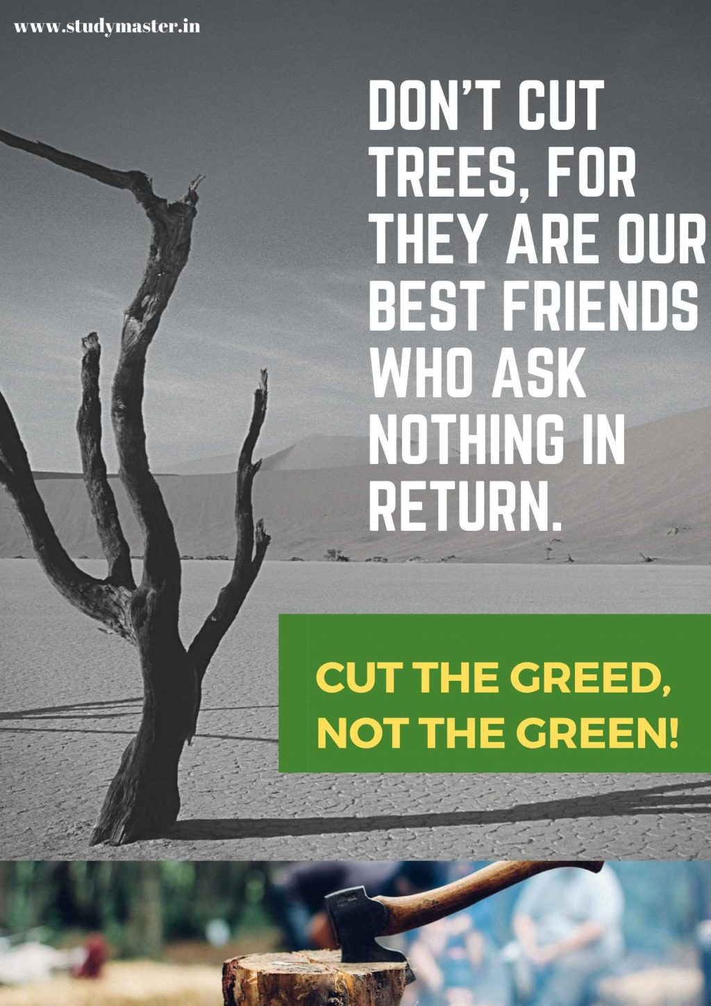 make a poster on save trees