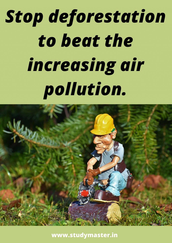 poster making on stop deforestation