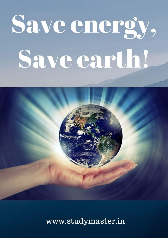 Save energy, save earth!