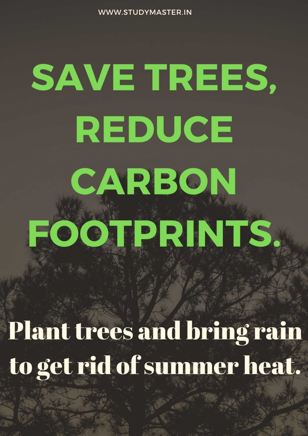 poster on save trees save life