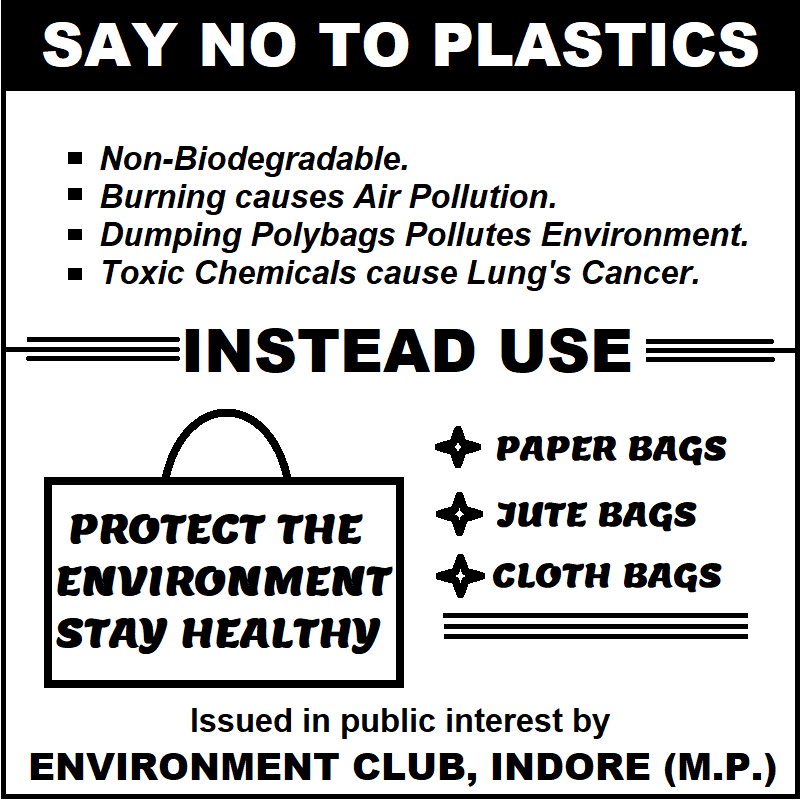 say no to plastic poster
