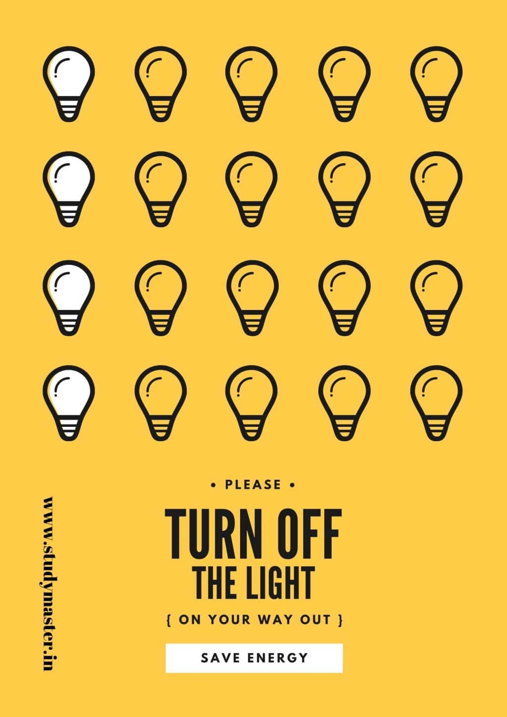 poster on save energy