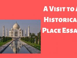 A Visit to A Historical Place Essay