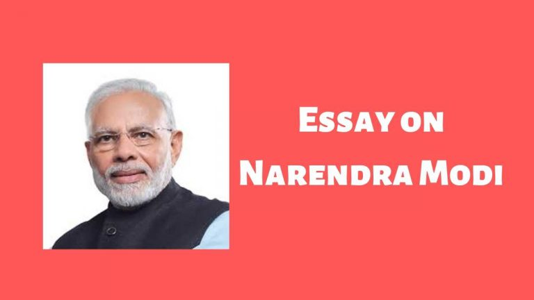 Essay on Narendra Modi for Children & Students